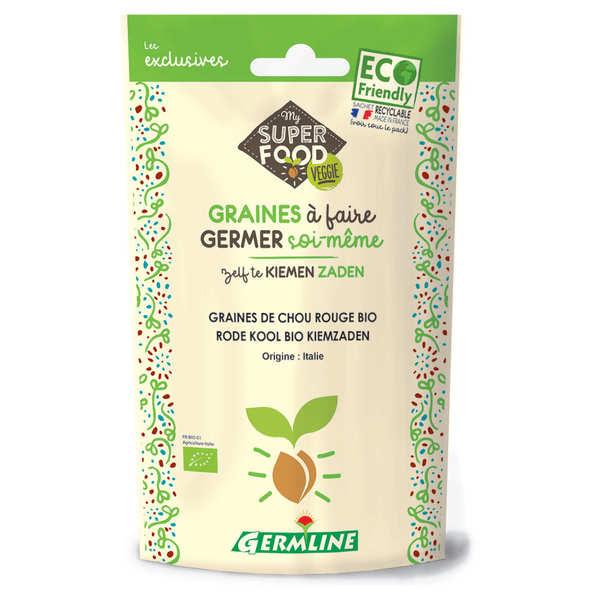 Germline Chou rouge bio - Graines à germer - Lot 3 sachets de 100g