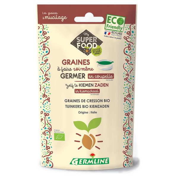 Germline Cresson bio - Graines à germer - Lot 6 sachets de 100g