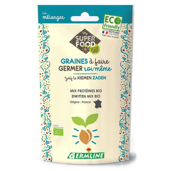 Germline Mix protéines, pois chiches, lentille, fenugrec bio - Graines à germer - Sachet 200g
