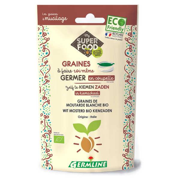 Germline Moutarde bio - Graines à germer - Lot 3 sachets de 100g