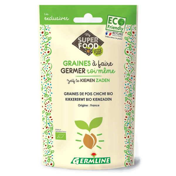 Germline Pois chiche bio - Graines à germer - Lot 3 sachets de 200g