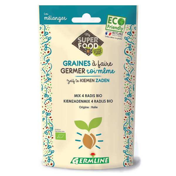 Germline Mélange 4 radis bio - Graines à germer - Sachet 100g