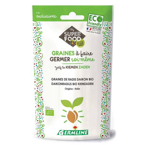 Germline Radis daikon bio - Graines à germer - Lot 6 sachets de 100g