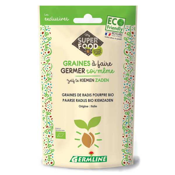 Germline Radis pourpre bio - Graines à germer - Lot 6 sachets de 100g