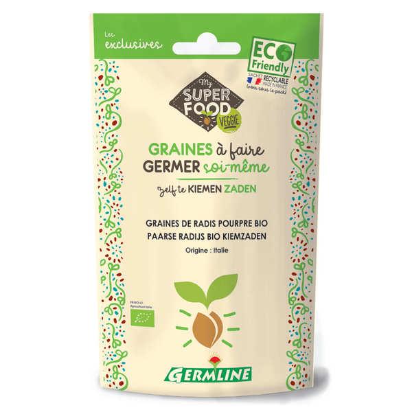 Germline Radis pourpre bio - Graines à germer - Lot 3 sachets de 100g
