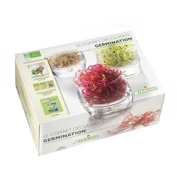 Germline Coffret germination : germoir à graines + 3 sachets - Coffret germoir + 3 sachets