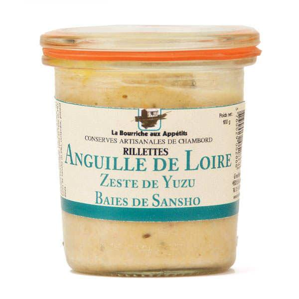 La Bourriche aux Appétits Rillettes d'anguille au zeste de yuzu et baies de Sansho - 3 pots de 100g