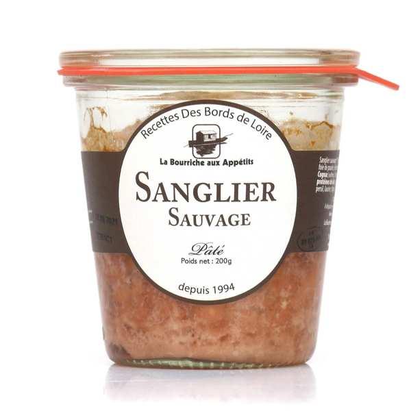 La Bourriche aux Appétits Paté de sanglier sauvage - 3 pots de 200g
