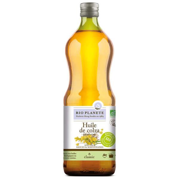 BioPlanète Huile pour sauces et mayonnaises (colza) Bio - 3 bouteilles de 1L