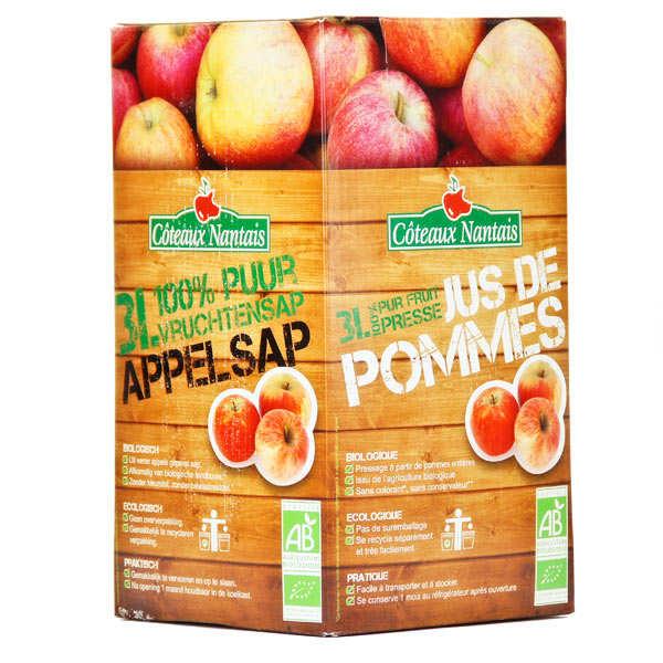 Coteaux Nantais Jus de pomme bio 100% pur jus - BIB 3 litres - Bag In Box 3L