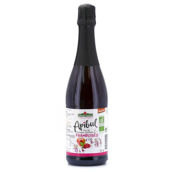 Coteaux Nantais Jus pétillant de pommes et framboises Apibul bio - Lot 3 bouteilles 75cl