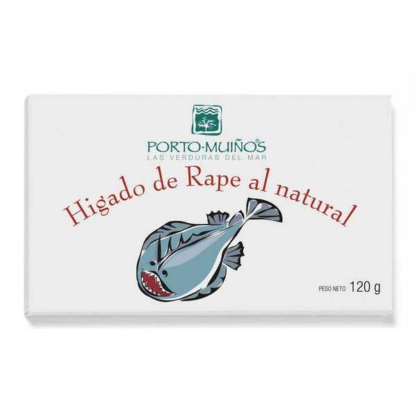 Porto Muinos Foie de lotte au naturel - 6 boites de 120g
