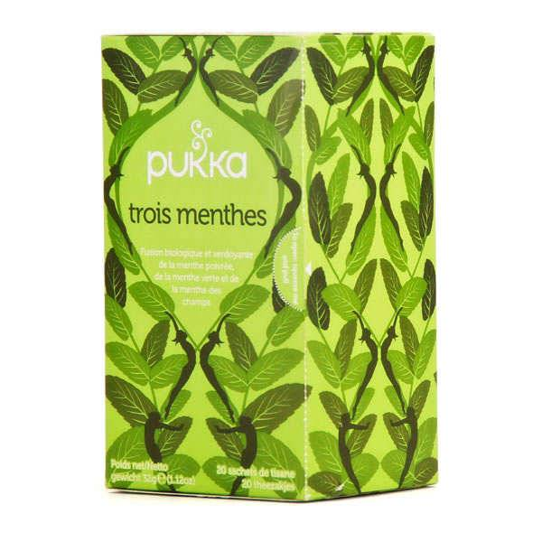 Pukka herbs Infusion bio 3 menthes - Pukka - Boite 20 sachets