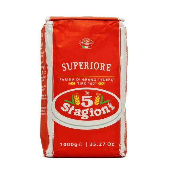 Le 5 Stagioni Farine à pizza pro 5 stagioni type 00 Superiore W330 - 5 sachets de 1kg