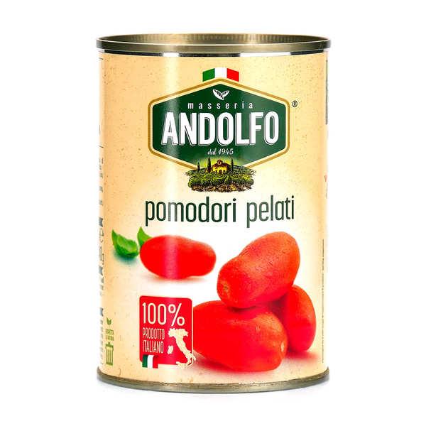 Masseria Andolfo Tomates italiennes pelées au jus - Boite 400g (240g net égoutté)