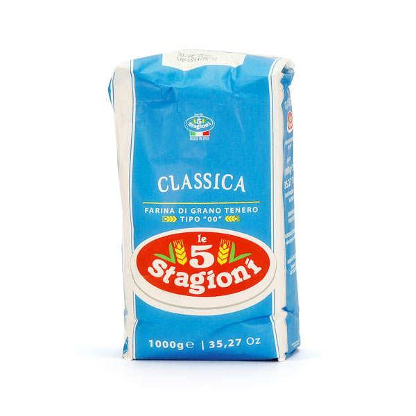 Le 5 Stagioni Farine à pizza classique type 00 W200 - 10 sachets de 1kg