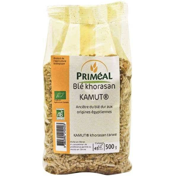 Priméal Graines de blé Kamut ® bio (blé de khorasan) - Sachet 500 g