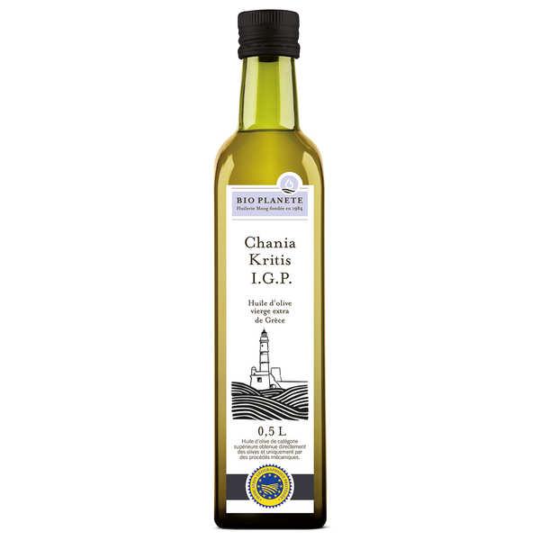 BioPlanète Huile d'olive vierge extra de Crète Chania Kritis IGP Bio - Bouteille 50cl