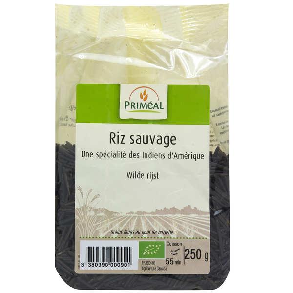 Priméal Riz noir sauvage du Canada bio - Lot 3 sachets de 250g