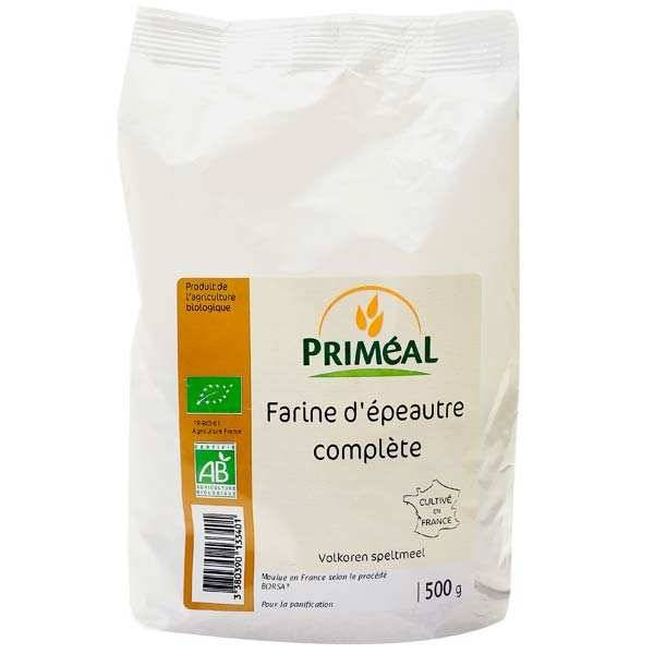 Priméal Farine complète d'épeautre bio - 3 sachets de 500g
