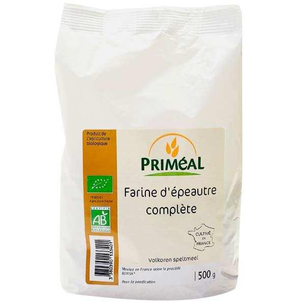 Priméal Farine complète d'épeautre bio - 6 sachets de 500g