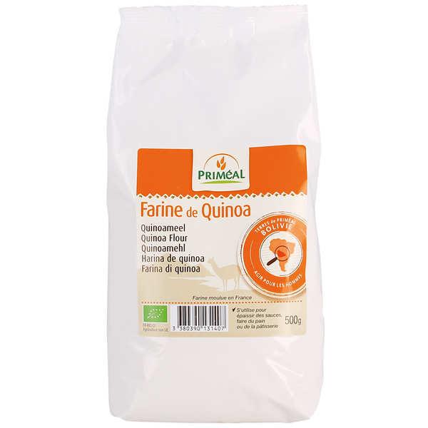 Priméal Farine de quinoa bio - Lot de 3 sachets de 500g
