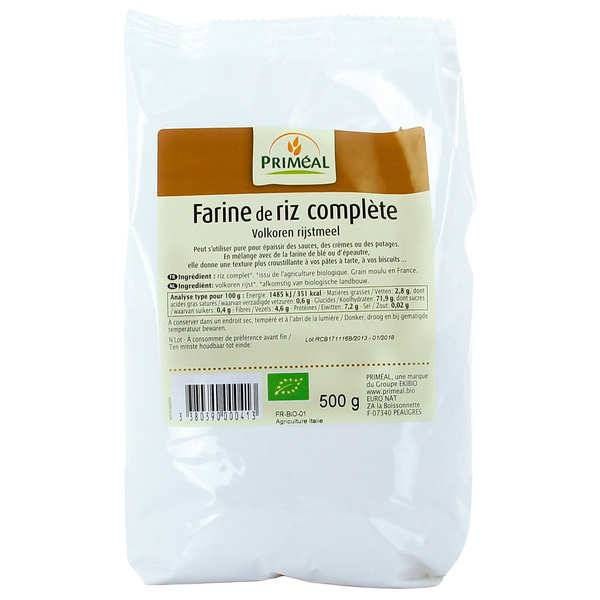 Priméal Farine complète de riz bio - Sachet 500g