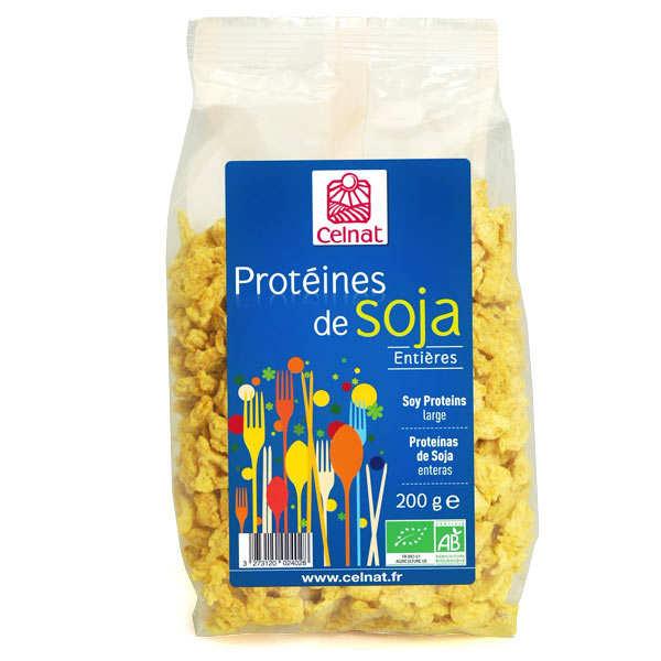Celnat Protéines de soja entières bio - Sachet 200g