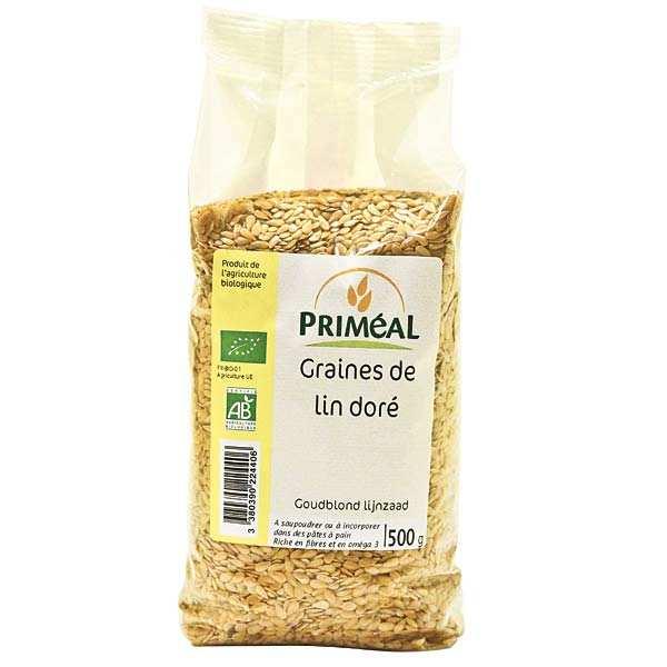 Priméal Graines de lin dorées bio - Sachet 500g