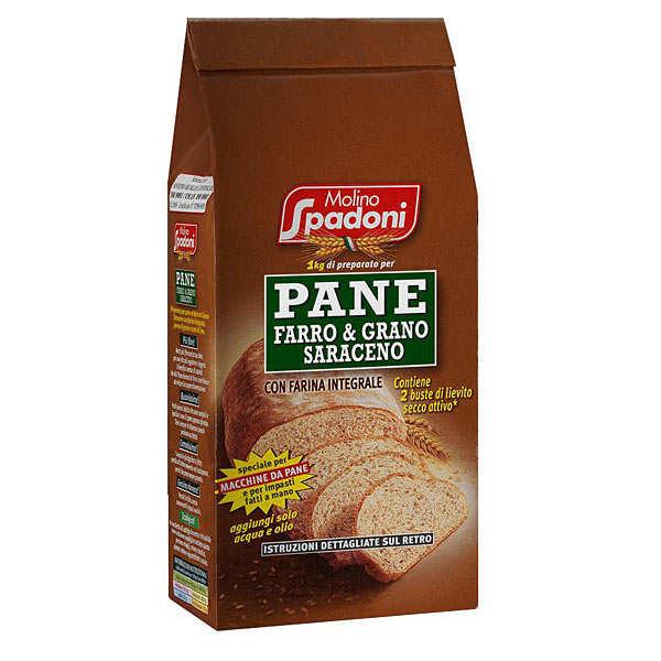 Molino Spadoni Farine pour pain à l'épeautre au sarrasin et au blé complet - Sachet 1kg