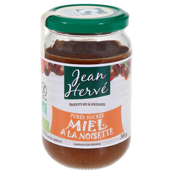 Jean Hervé Purée de noisettes et miel bio - Lot de 4 pots 360g