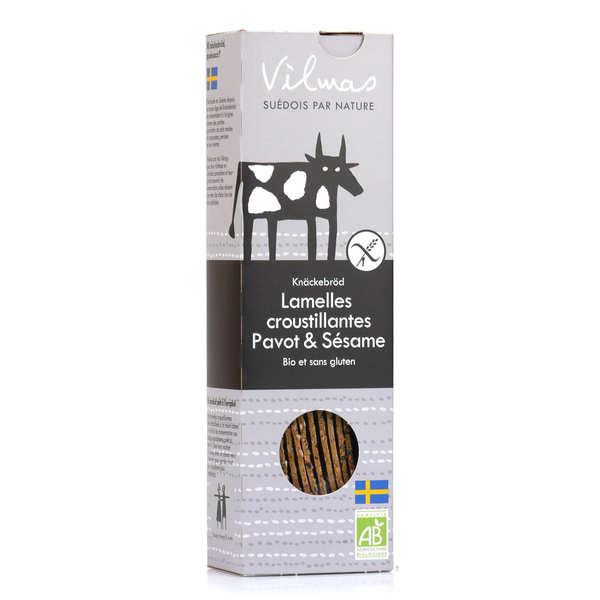 Vilmas Knäckebröd AB Lamelles de pain croustillant bio noir et blanc sans gluten - Boite 120g