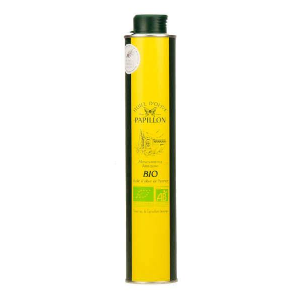 Fromageries Papillon Huile d'olive vierge extra bio Arbequine - Bouteille 50cl