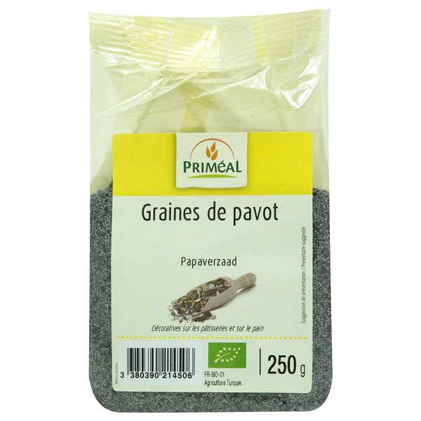 Priméal Graines de pavot bleu bio - Sachet 250g