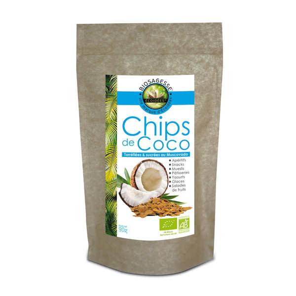 Biosagesse Chips de coco bio & équitable - 3 boites de 90g