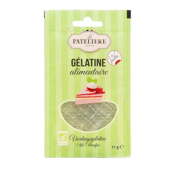 La Patelière bio Feuilles de gélatine alimentaire bio - Paquet 11g - 5 à 7 feuilles