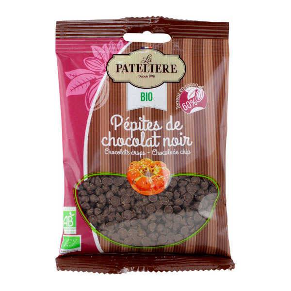 La Patelière bio Pépites de chocolat bio 60% cacao - Sachet 100g