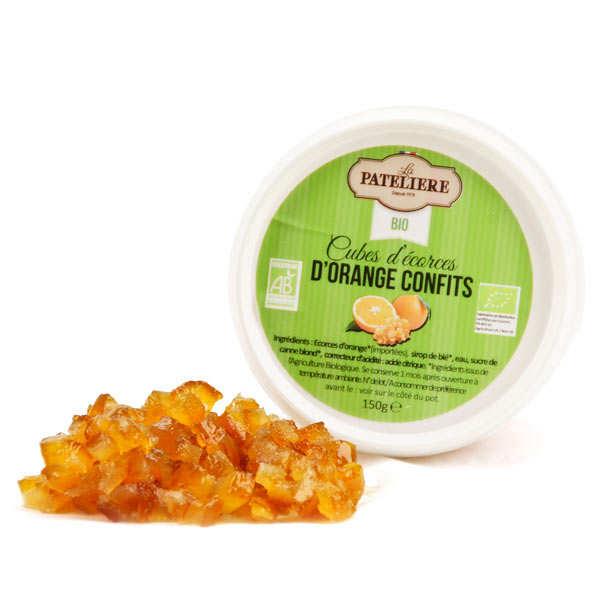 La Patelière bio Cubes d'écorces d'orange confites bio - Pot 150g