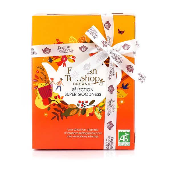 English Tea Shop Coffret d'infusions bio bienfaisantes -12 sachets pyramides - 6 parfums - Coffret 12 sachets - 6 parfums