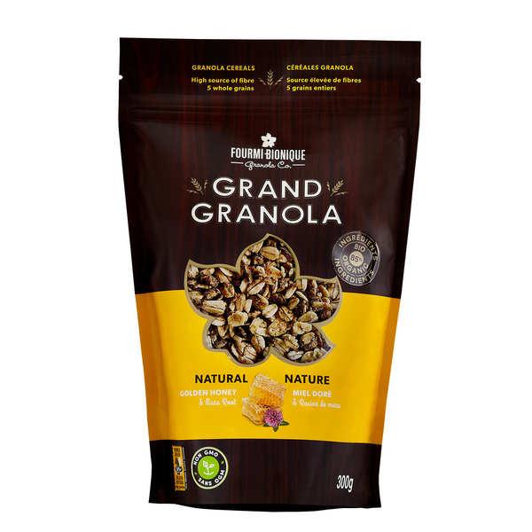 Fourmi Bionique Granola gourmet nature - Miel et maca - Lot de 3 sachets 300g
