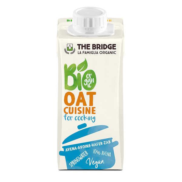 The Bridge Bio Crème d'avoine cuisine - alternative bio à la crème fraiche - Brique 20cl