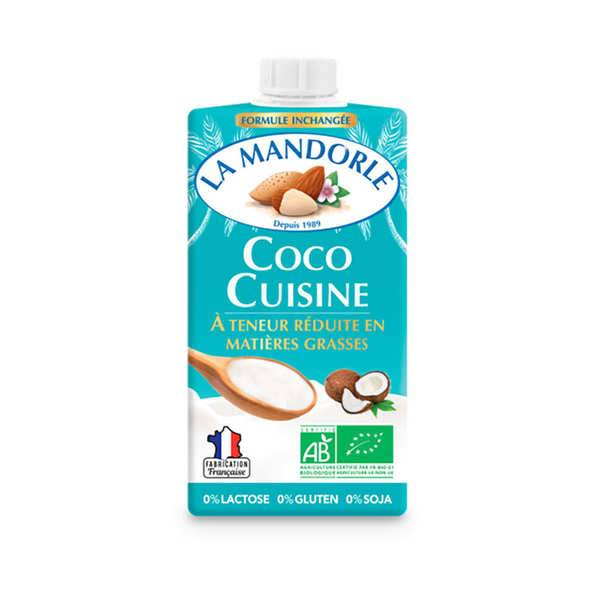 La Mandorle Coco cuisine - bio (alternative à la crème fraîche) - lot de 6 briques de 250ml