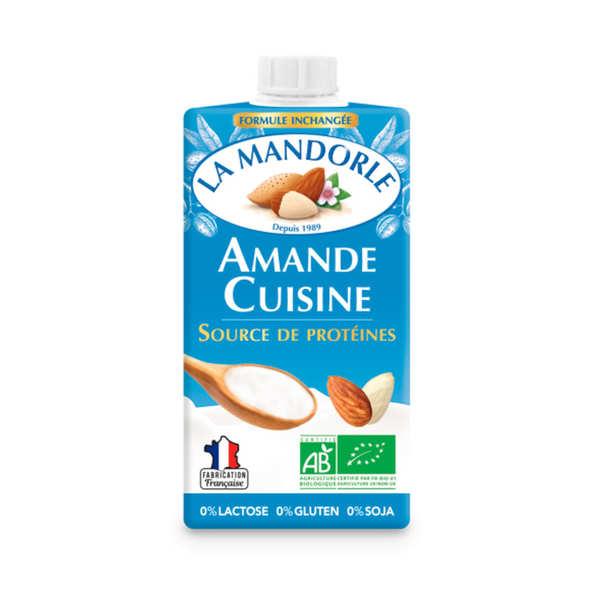 La Mandorle Amande cuisine - crème d'amande bio pour la cuisine - lot de 6 briques de 250ml