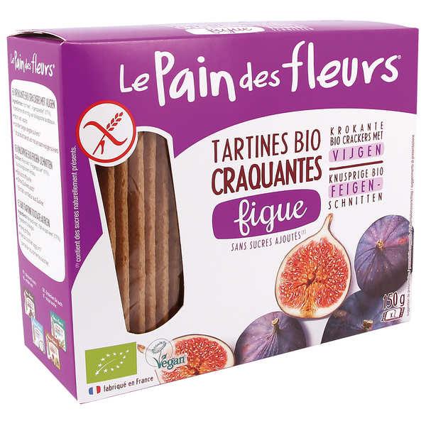Le Pain des Fleurs bio aux figues sans gluten - 3 paquets de 150g