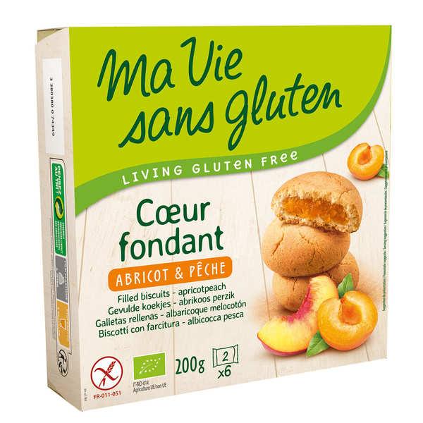 Ma vie sans gluten Coeur fondant bio abricot pêche sans gluten - Boite 200g