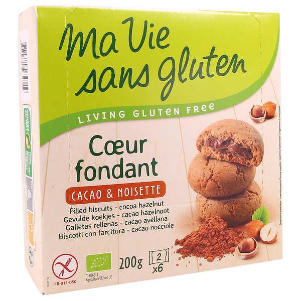 Ma vie sans gluten Coeur fondant bio cacao noisettes sans gluten - Boite 200g