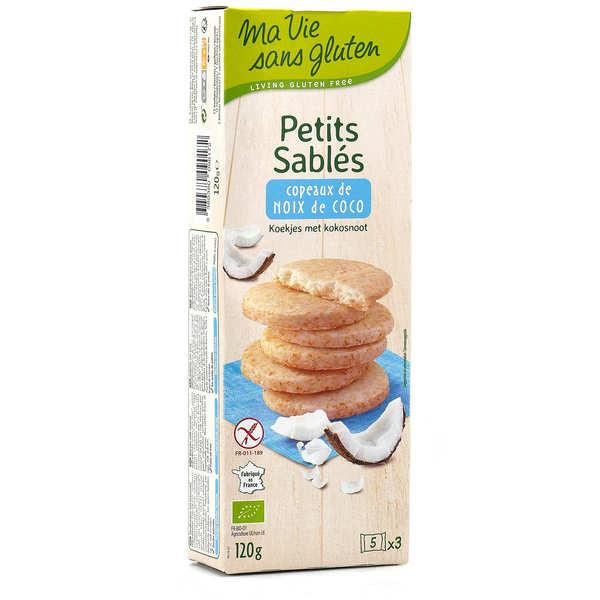 Ma vie sans gluten Petits sablés bio à la noix de coco sans gluten - Paquet 120g