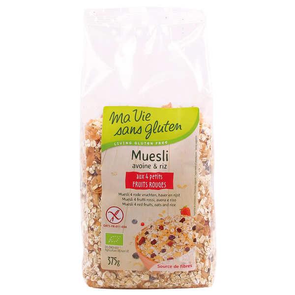 Ma vie sans gluten Mueslis bio aux quatres petits fruits rouges - sans gluten - Lot de 4 sachets 375g