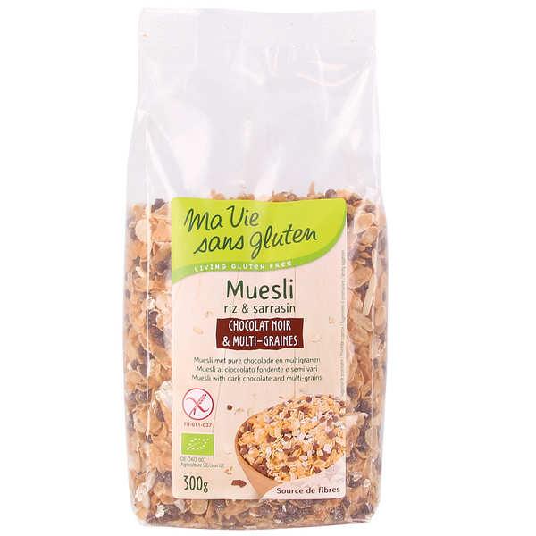 Ma vie sans gluten Müesli bio chocolat noir et multi graines - sans gluten - Sachet 300g