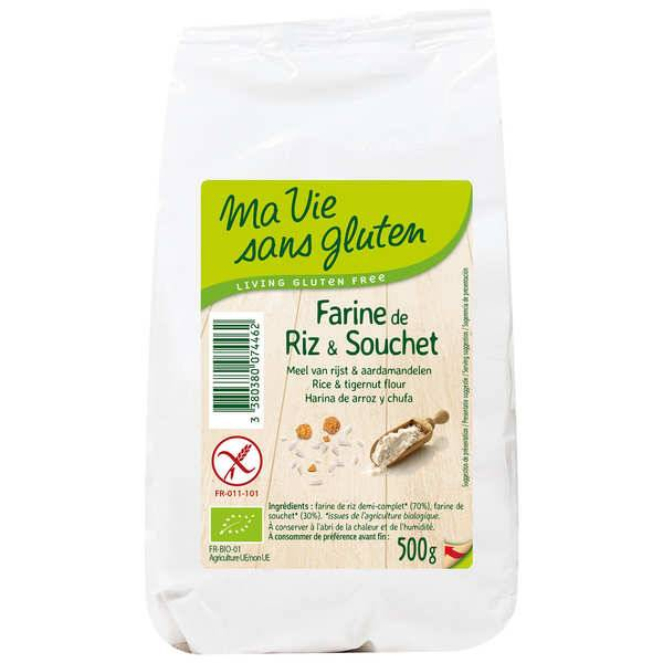 Ma vie sans gluten Farine bio de riz et souchet sans gluten - Paquet 500g
